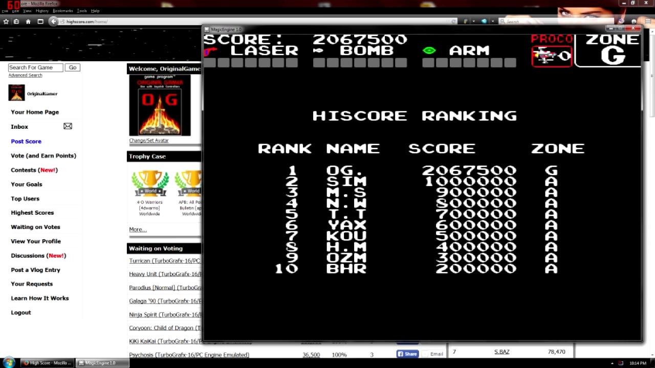 OriginalGamer: Darius Plus (TurboGrafx-16/PC Engine Emulated) 2,067,500 points on 2015-08-21 16:51:12