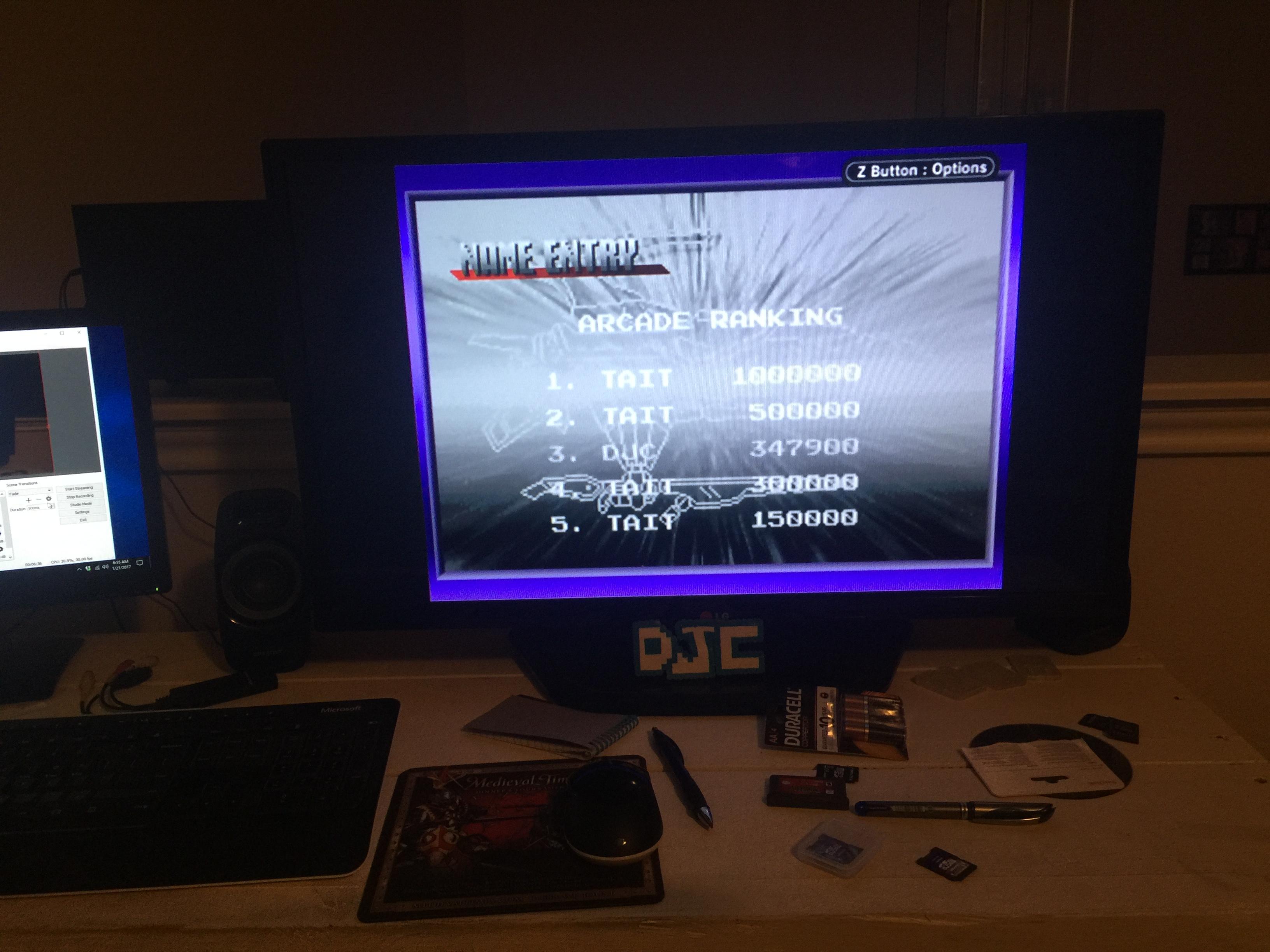derek: Darius R [Arcade] (GBA) 347,900 points on 2017-01-21 07:44:53