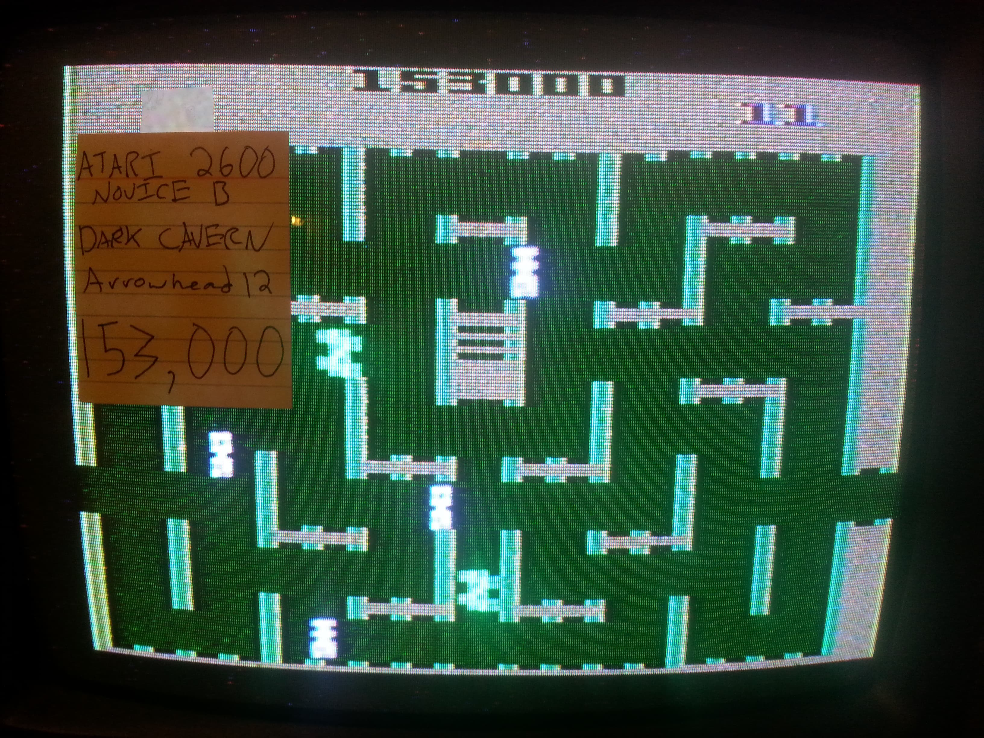 Arrowhead12: Dark Cavern (Atari 2600) 153,000 points on 2018-09-30 14:30:56
