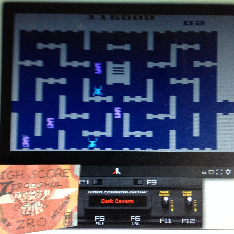 zerooskul: Dark Cavern (Atari 2600 Emulated) 116,000 points on 2019-12-31 23:42:52