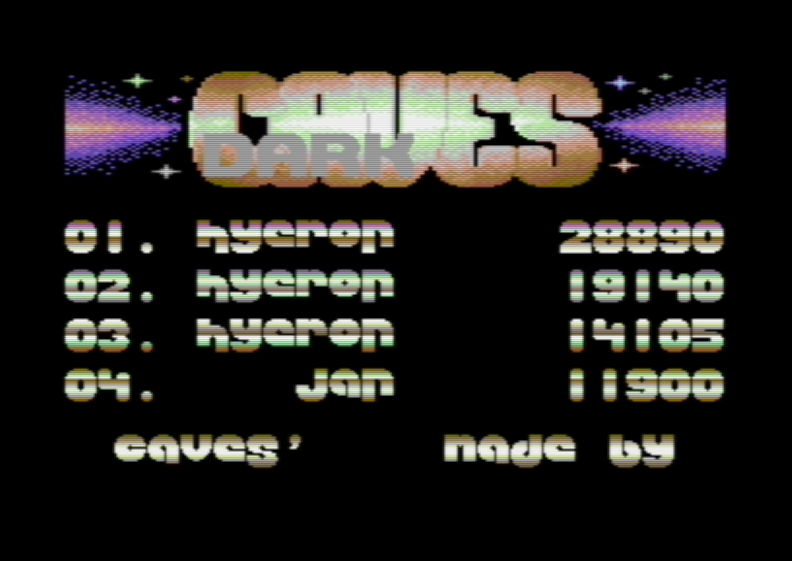 Hyeron: Dark Caves (Commodore 64 Emulated) 28,890 points on 2020-03-06 03:06:48