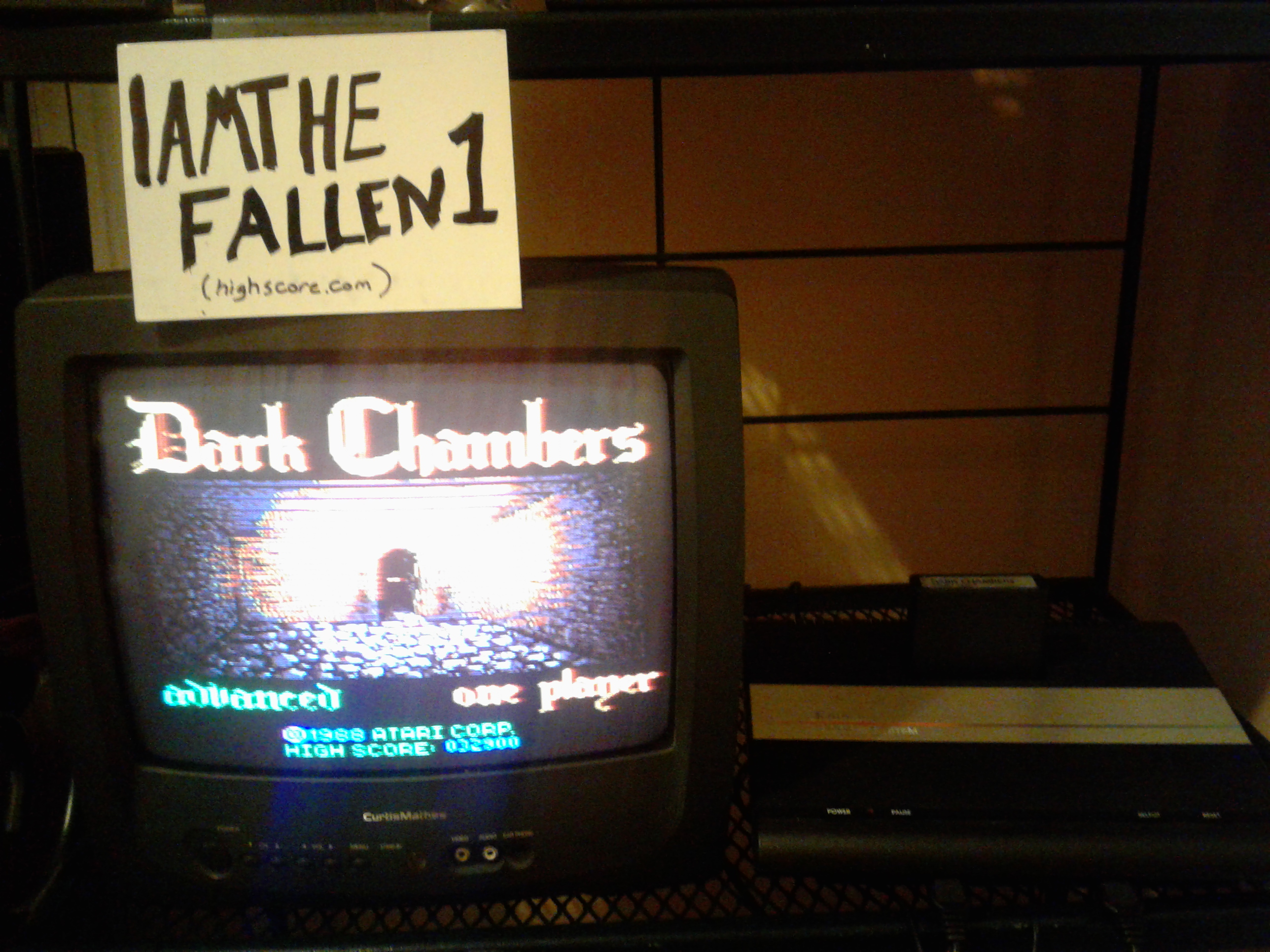 iamthefallen1: Dark Chambers: Advanced (Atari 7800) 32,900 points on 2017-08-27 22:53:13