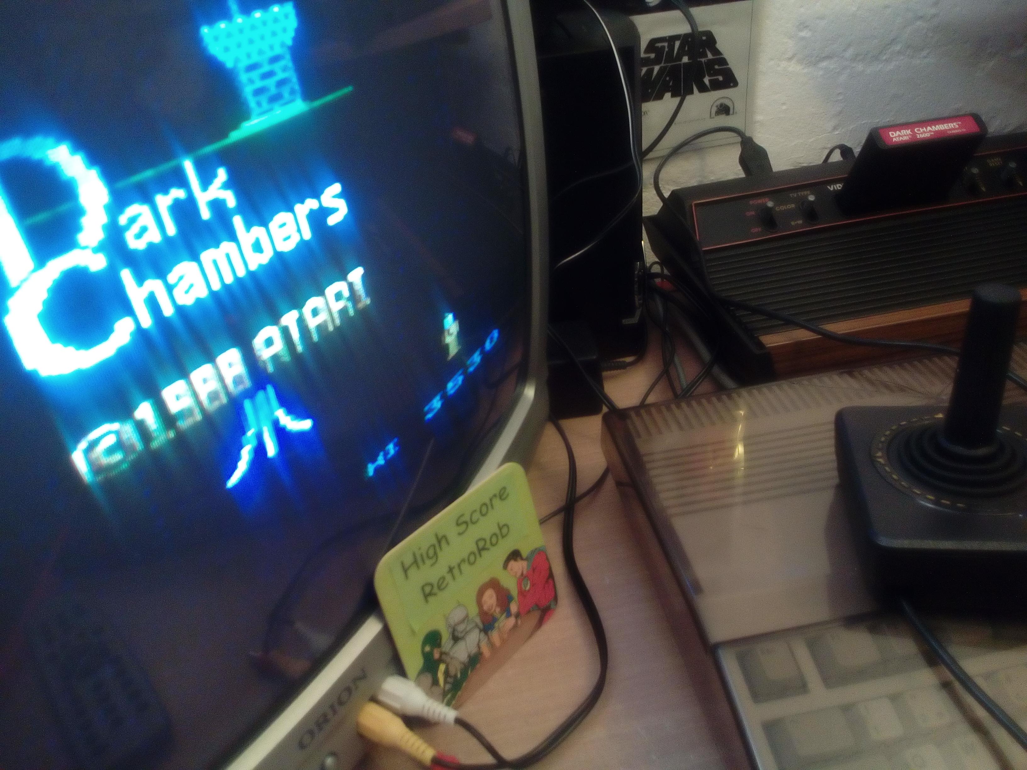 RetroRob: Dark Chambers (Atari 2600 Novice/B) 3,530 points on 2018-06-20 12:21:41