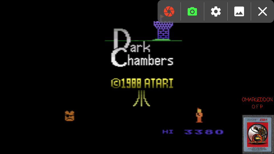 omargeddon: Dark Chambers (Atari 2600 Emulated Expert/A Mode) 3,380 points on 2017-03-08 23:26:21