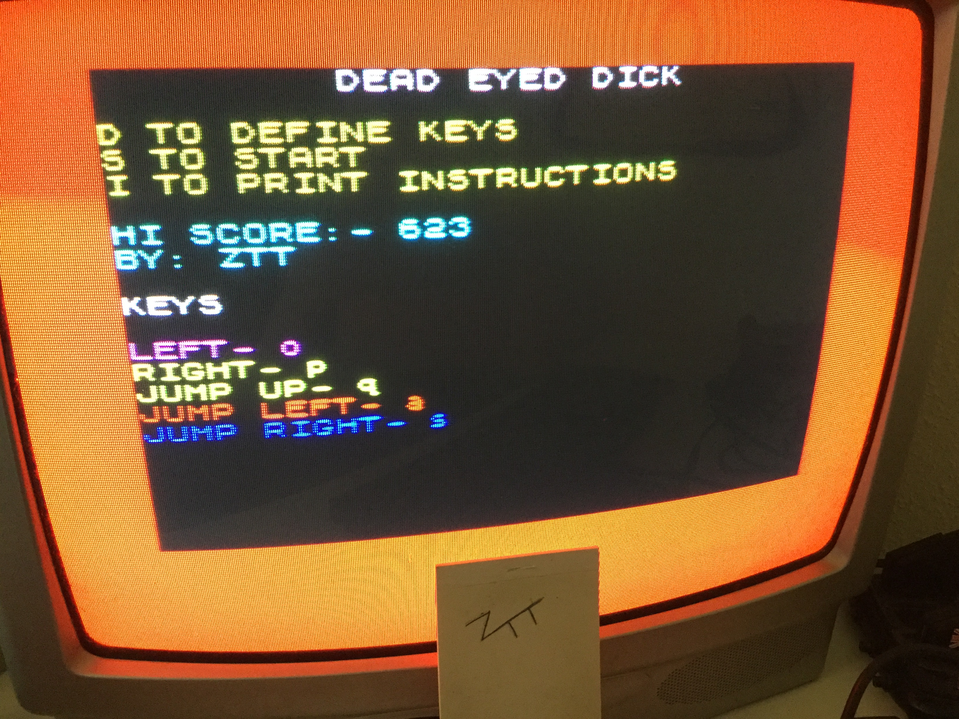 Frankie: Dead Eyed Dick (ZX Spectrum) 623 points on 2019-06-15 04:52:38