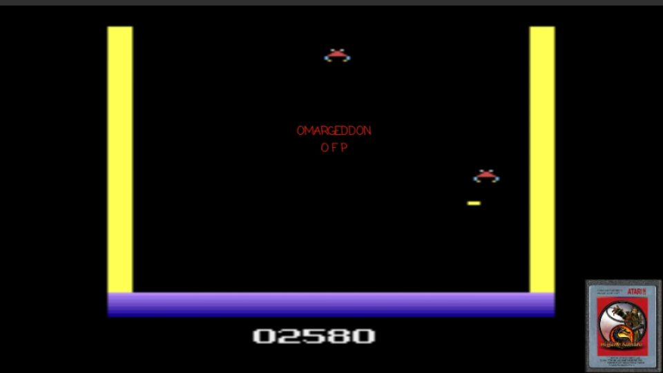 omargeddon: Deadly Duck (Atari 2600 Emulated Novice/B Mode) 2,580 points on 2017-02-21 00:05:59