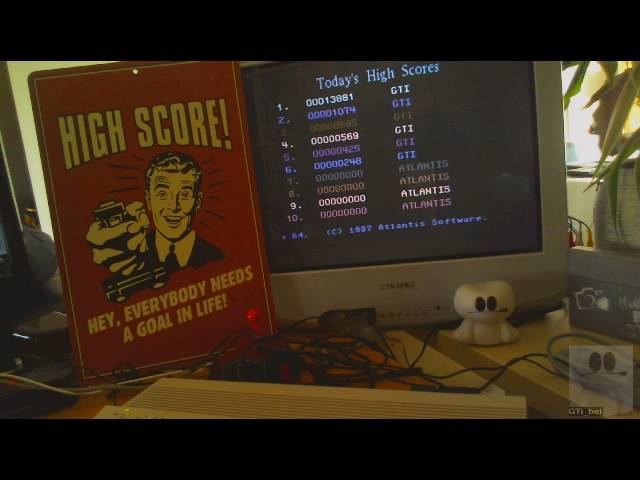 GTibel: Death Race 64 [Easy] (Commodore 64) 13,881 points on 2019-05-18 02:26:39