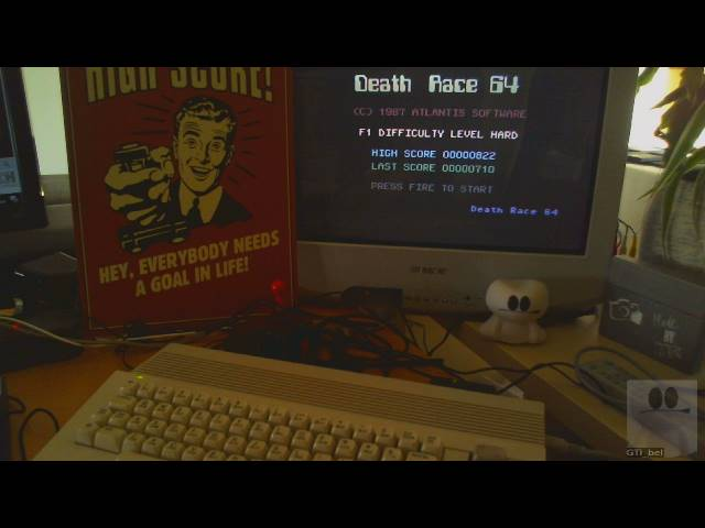 GTibel: Death Race 64 [Hard] (Commodore 64) 822 points on 2019-05-18 02:27:49