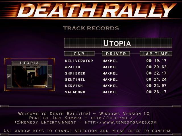 Maxwel: Death Rally [Utopia, Shrieker Car] (PC) 0:00:22.17 points on 2016-03-03 03:20:58