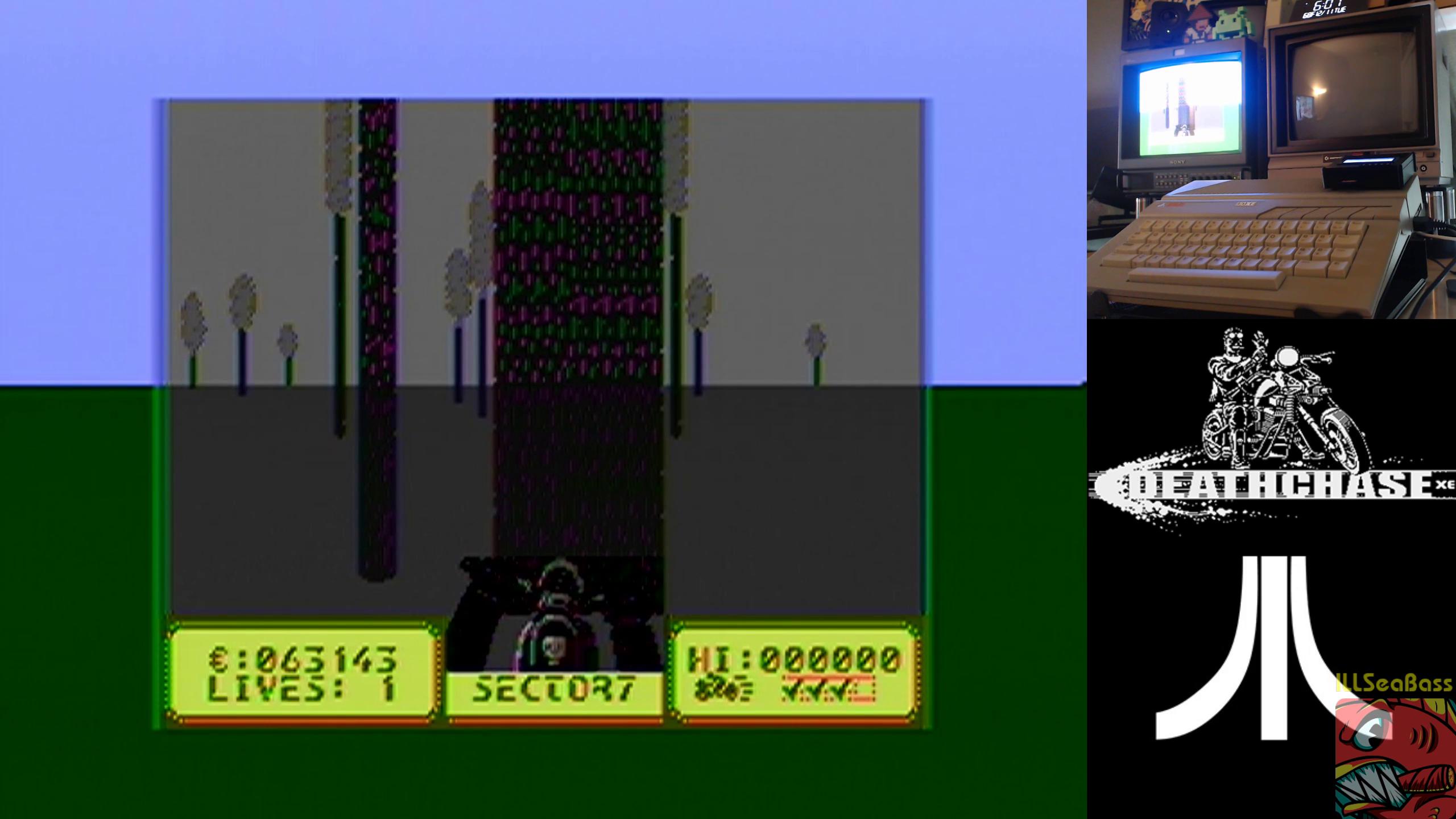 ILLSeaBass: Deathchase XE (Atari 400/800/XL/XE) 63,143 points on 2018-12-11 19:57:16