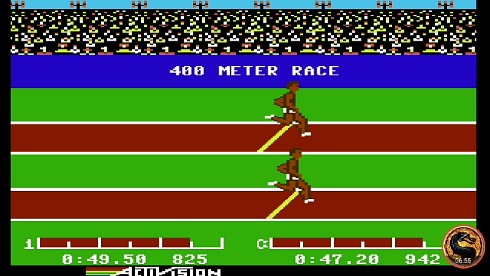 omargeddon: Decathlon: 400m Race (Commodore 64 Emulated) 0:00:49.5 points on 2019-08-27 20:45:08