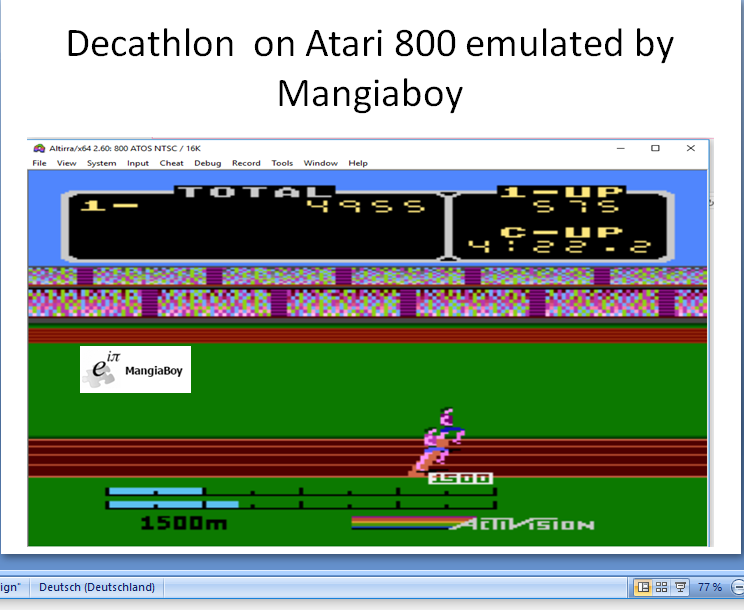 MangiaBoy: Decathlon (Atari 400/800/XL/XE Emulated) 4,955 points on 2017-06-04 12:57:15