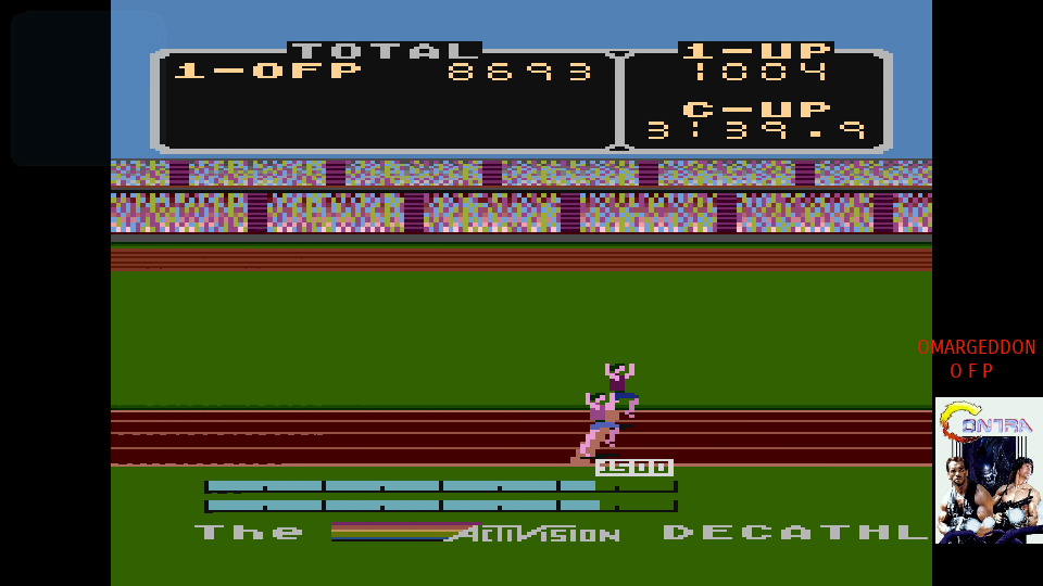 omargeddon: Decathlon (Atari 400/800/XL/XE Emulated) 8,693 points on 2017-07-27 01:01:02