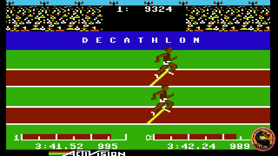 omargeddon: Decathlon (Commodore 64 Emulated) 9,324 points on 2019-08-27 20:27:18