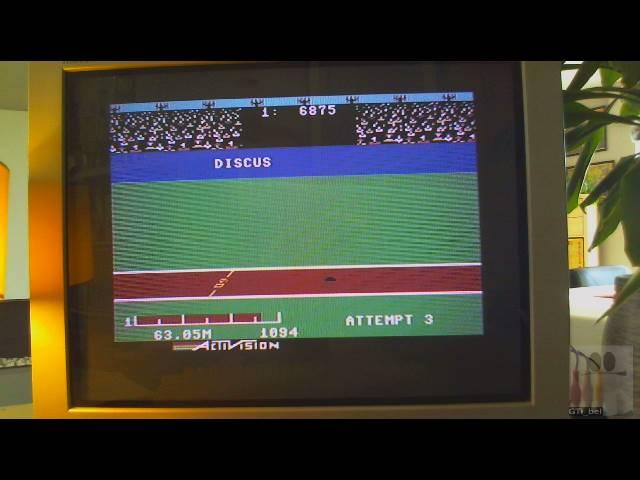 GTibel: Decathlon: Discus [Meters] (Commodore 64) 6,305 points on 2019-03-26 11:09:52