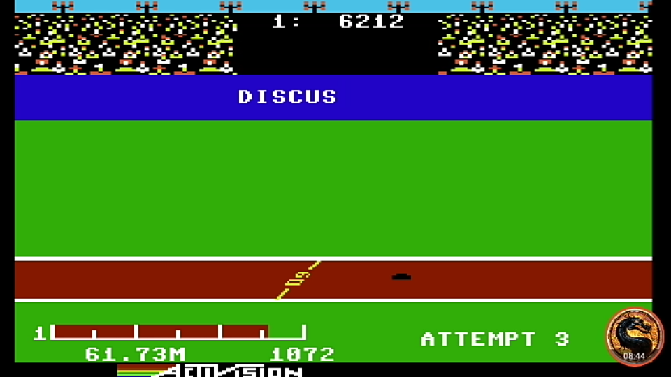 omargeddon: Decathlon: Discus [Meters] (Commodore 64 Emulated) 6,173 points on 2019-08-27 20:48:10
