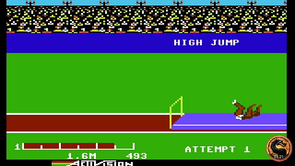 omargeddon: Decathlon: High Jump [Meters] (Commodore 64 Emulated) 16 points on 2019-08-27 20:44:12
