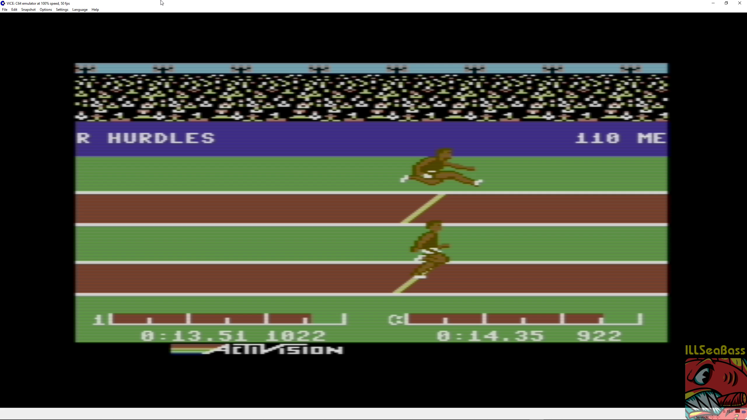 ILLSeaBass: Decathlon: Hurdles (Commodore 64 Emulated) 0:00:13.51 points on 2018-06-30 10:18:39