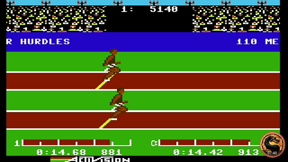 omargeddon: Decathlon: Hurdles (Commodore 64 Emulated) 0:00:14.68 points on 2019-08-27 20:46:39