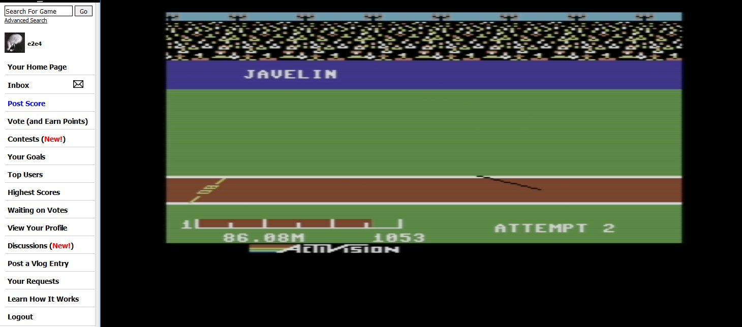 Decathlon: Javelin [Meters] 8,608 points