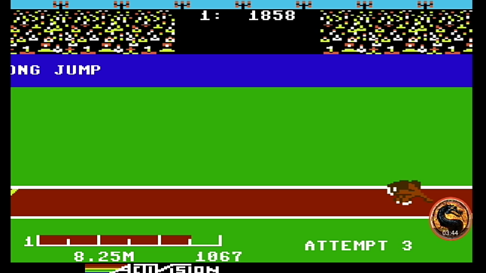 omargeddon: Decathlon: Long Jump [Meters] (Commodore 64 Emulated) 825 points on 2019-08-27 20:53:24
