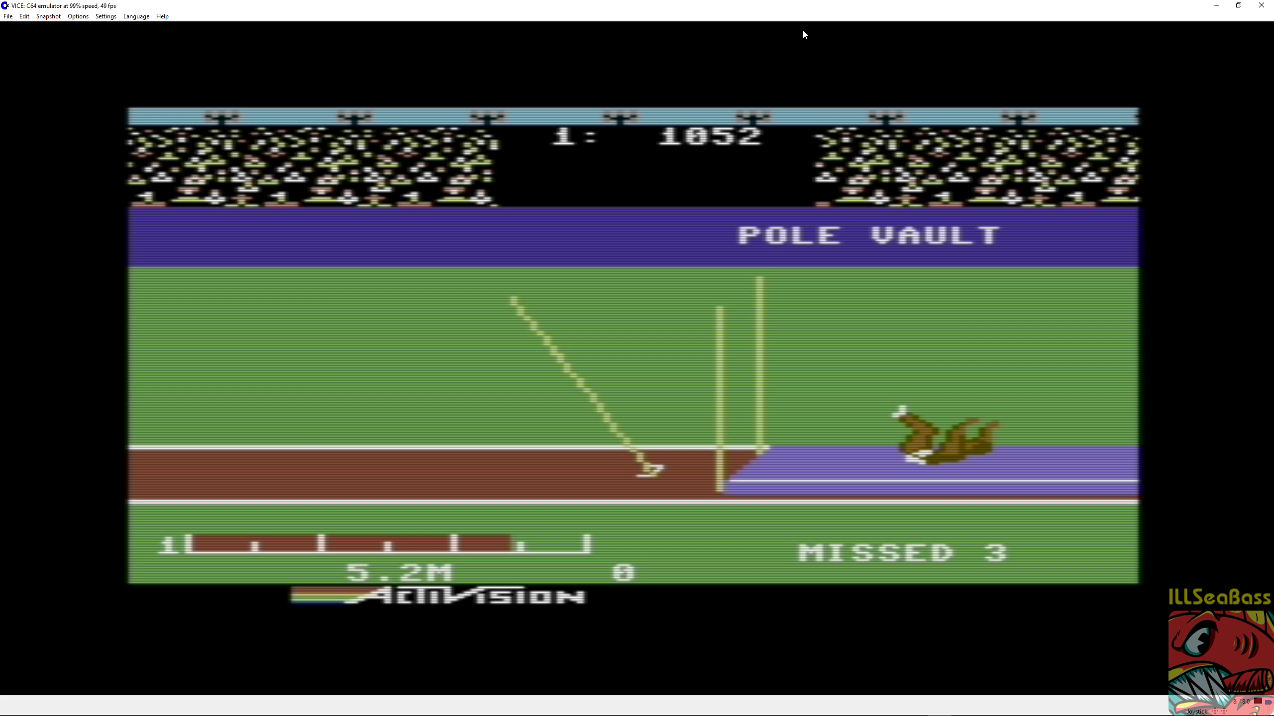 ILLSeaBass: Decathlon: Pole Vault [Meters] (Commodore 64 Emulated) 50 points on 2018-07-01 23:46:54