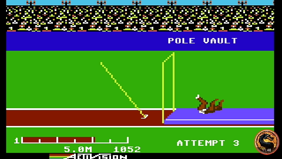 omargeddon: Decathlon: Pole Vault [Meters] (Commodore 64 Emulated) 50 points on 2019-08-27 20:48:50