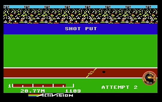omargeddon: Decathlon: Shot Put [Meters] (Commodore 64 Emulated) 2,077 points on 2019-08-27 21:18:20