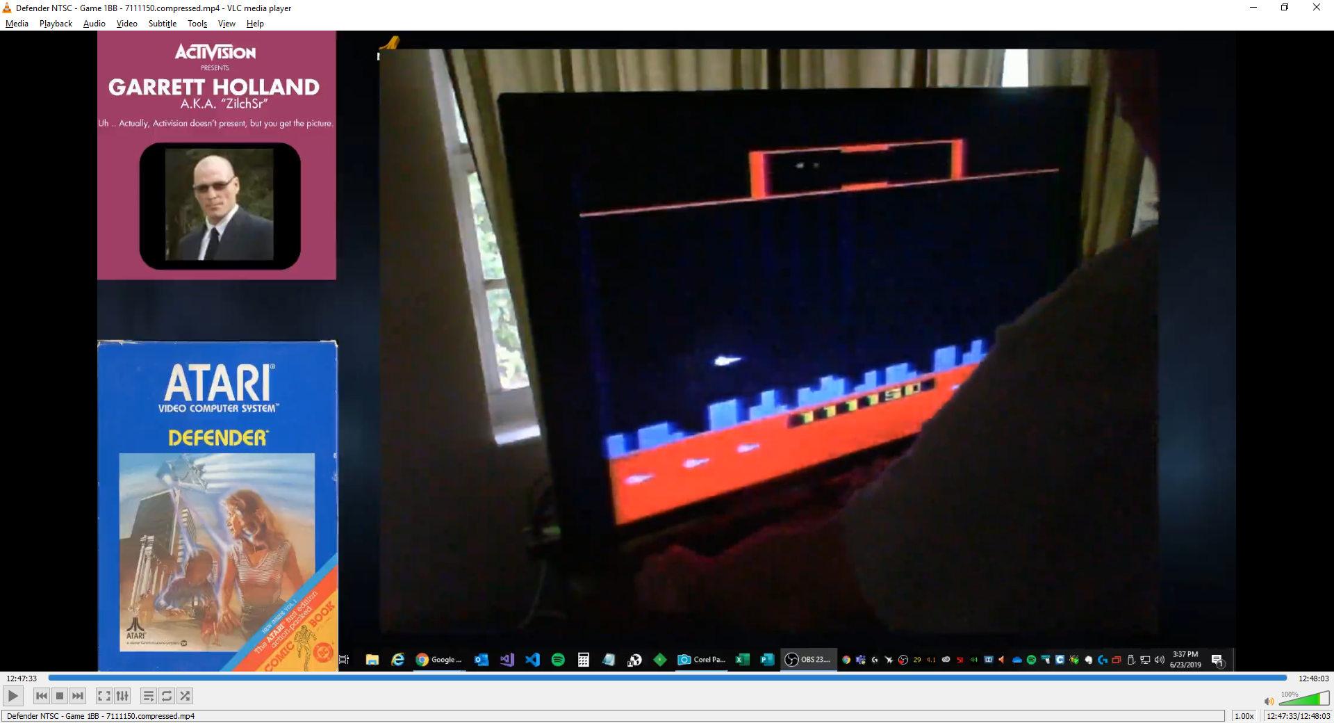 ZilchSr: Defender (Atari 2600 Novice/B) 7,111,150 points on 2019-08-08 20:54:22