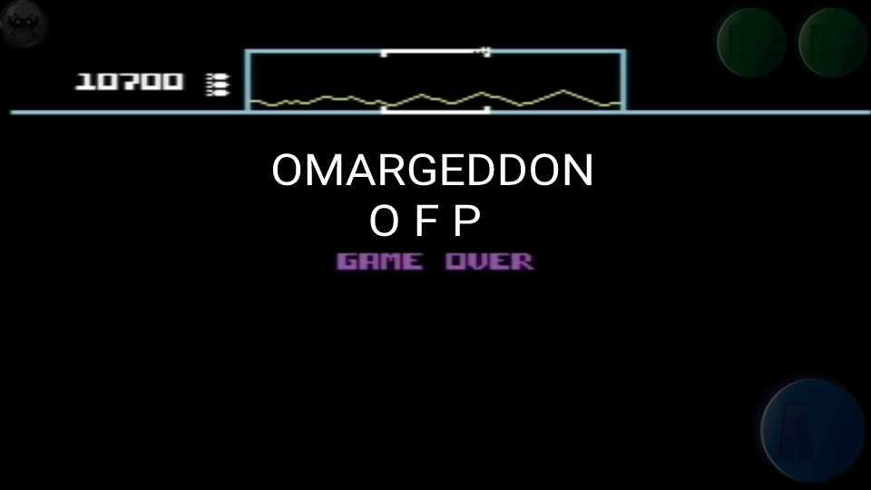 omargeddon: Defender [Atarisoft]: Novice (Commodore 64 Emulated) 10,700 points on 2016-10-16 23:25:54