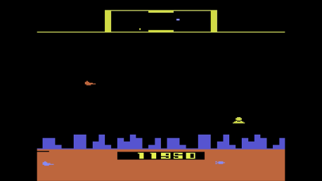 ed1475: Defender [Game 8] (Atari 2600 Emulated Novice/B Mode) 11,950 points on 2016-10-08 20:04:50