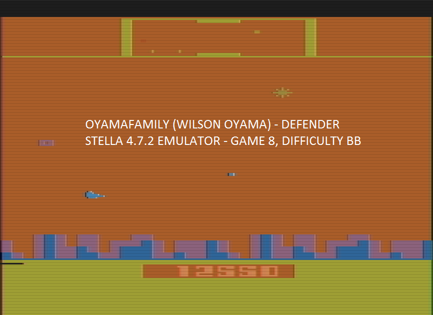 oyamafamily: Defender [Game 8] (Atari 2600 Emulated Novice/B Mode) 12,550 points on 2016-12-18 04:12:43