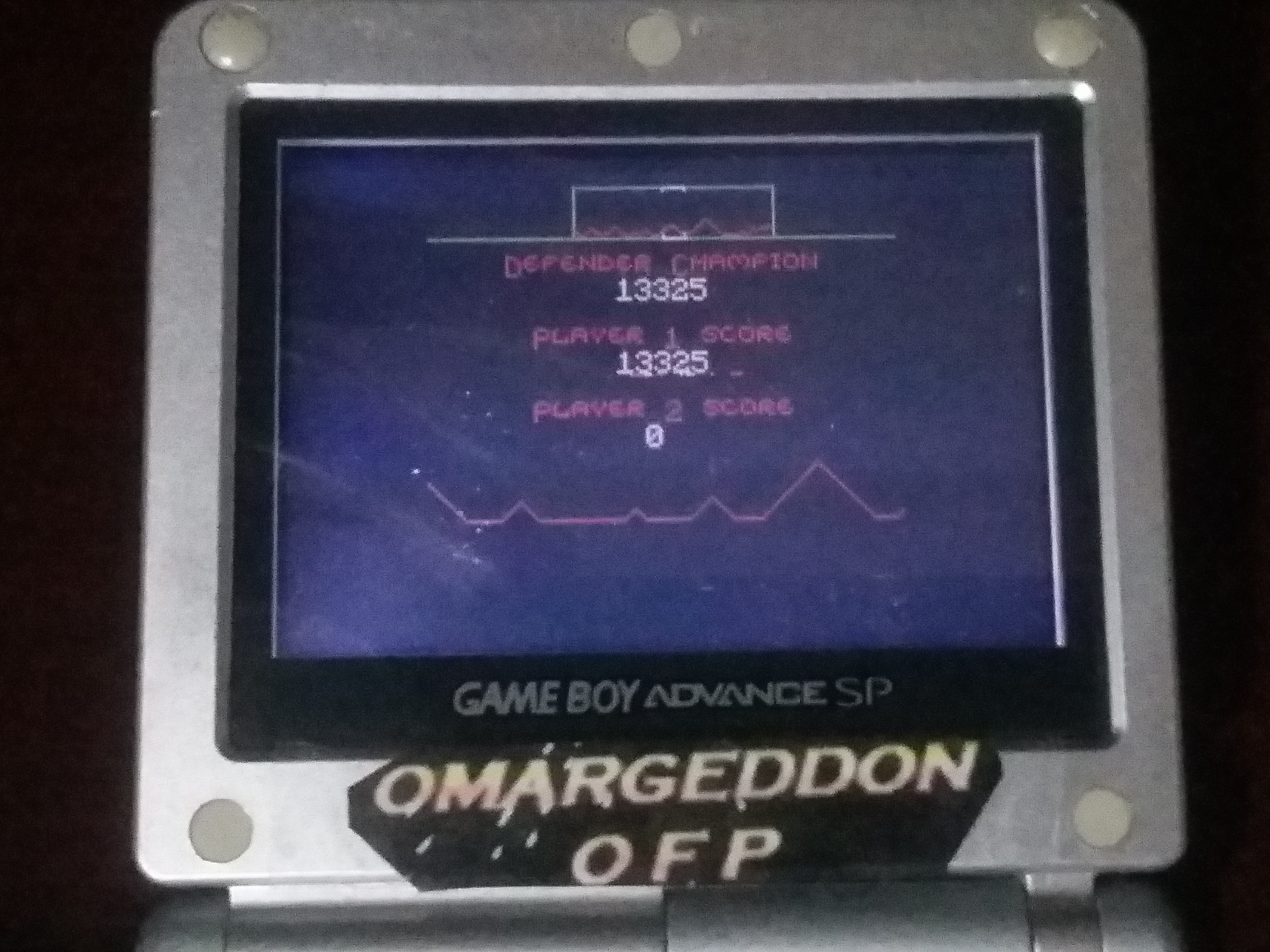 omargeddon: Defender (Game Boy Color) 13,325 points on 2018-01-06 23:30:14