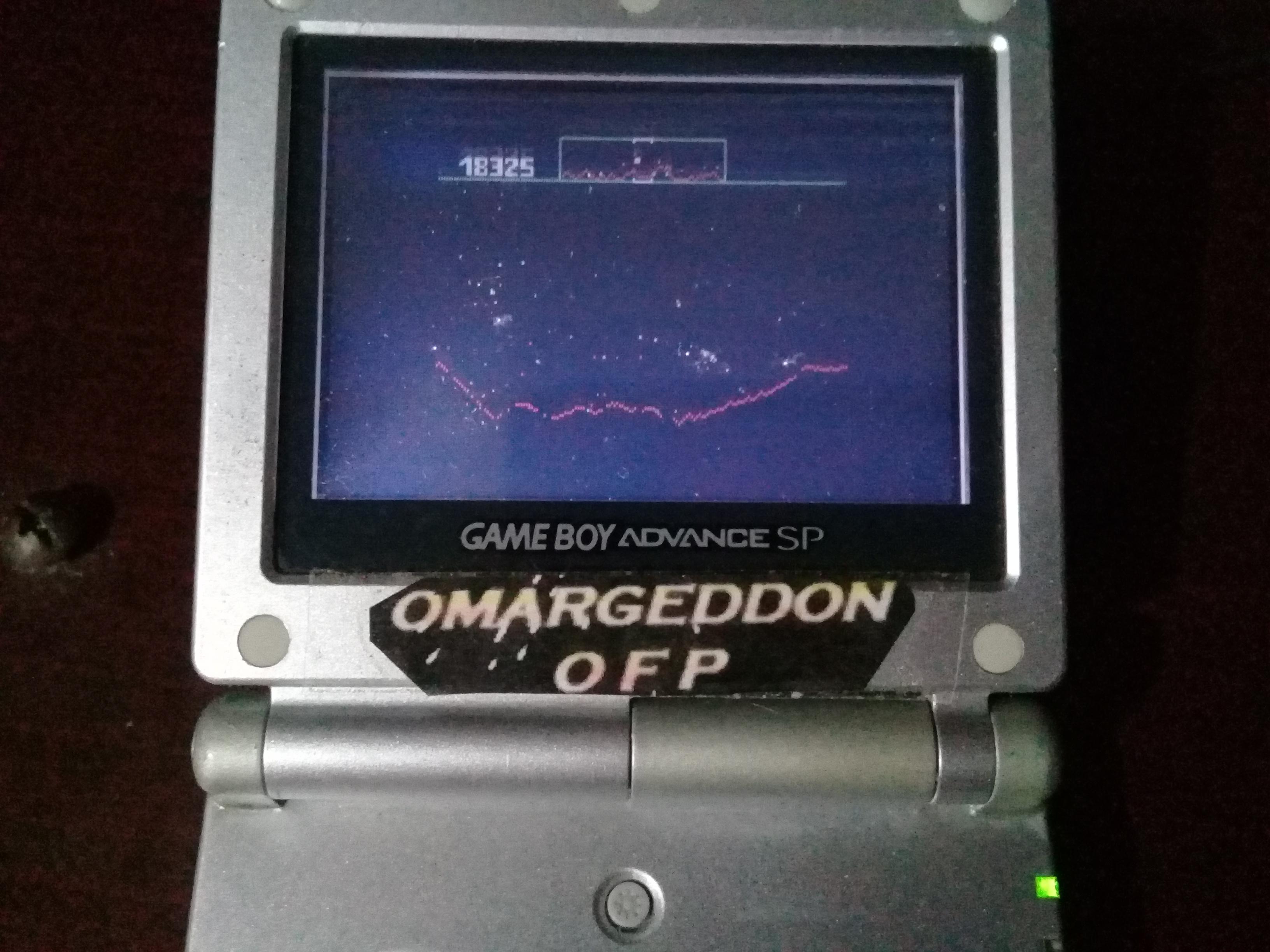 omargeddon: Defender (Game Boy Color) 18,325 points on 2019-02-27 22:36:31