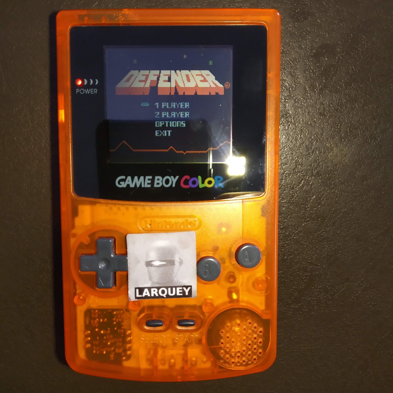 Larquey: Defender (Game Boy Color) 7,575 points on 2020-07-29 05:41:55