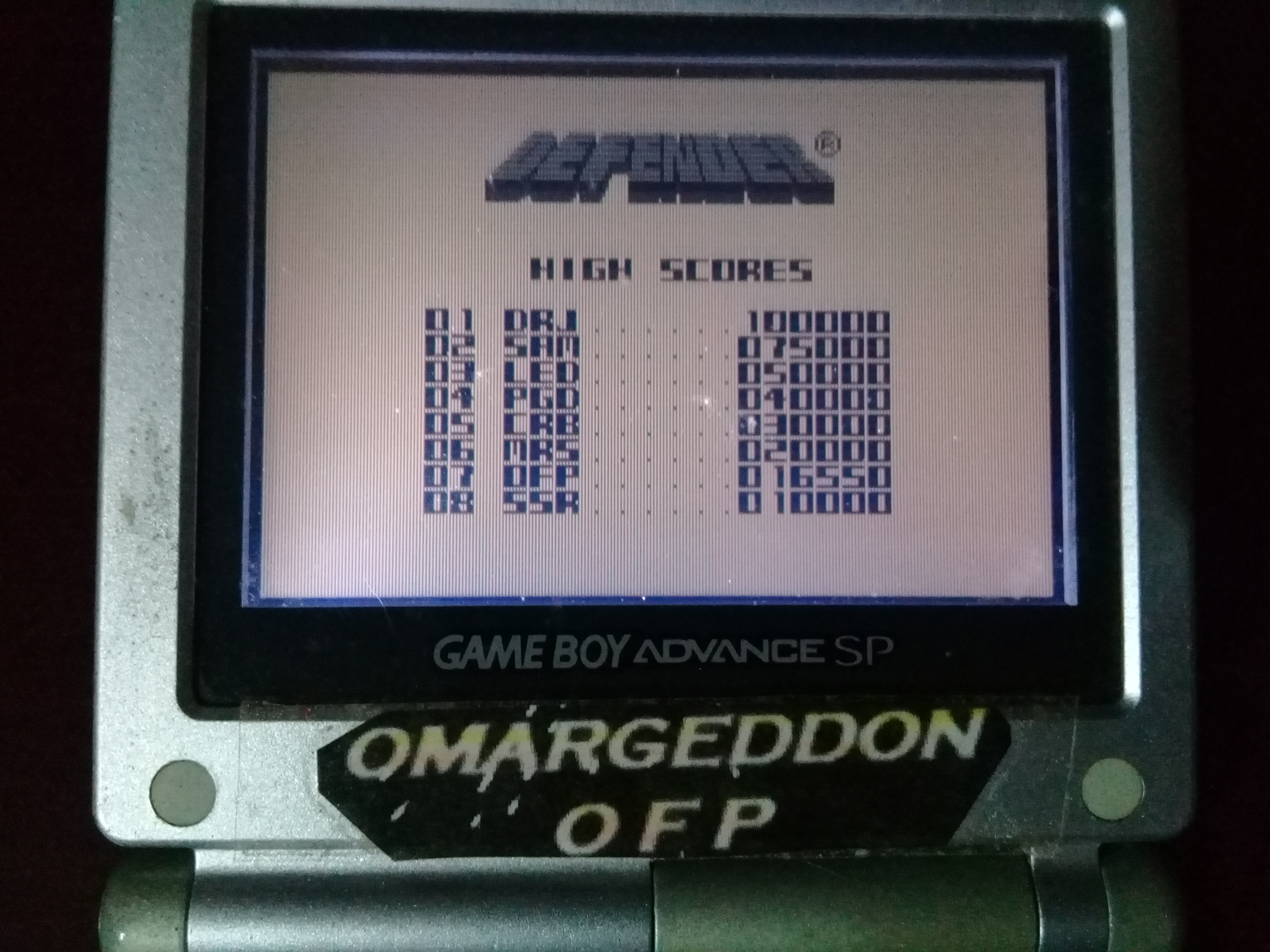 omargeddon: Defender (Game Boy) 16,550 points on 2020-04-04 11:35:45