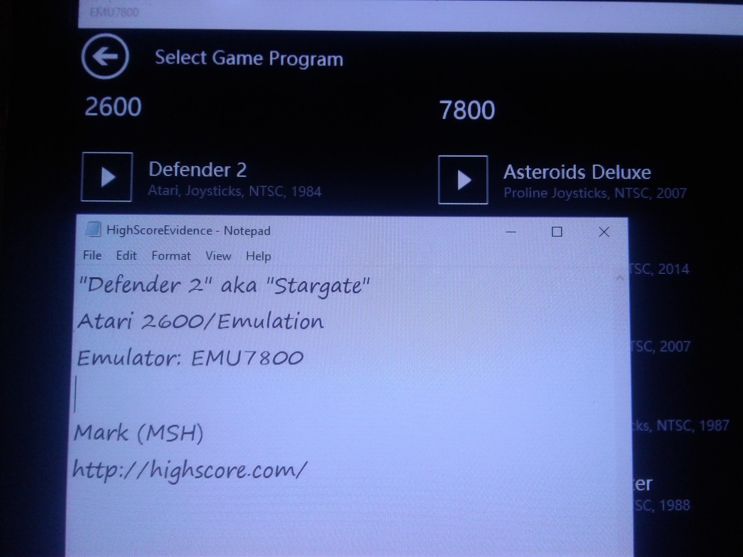 Defender II / Stargate 5,500 points