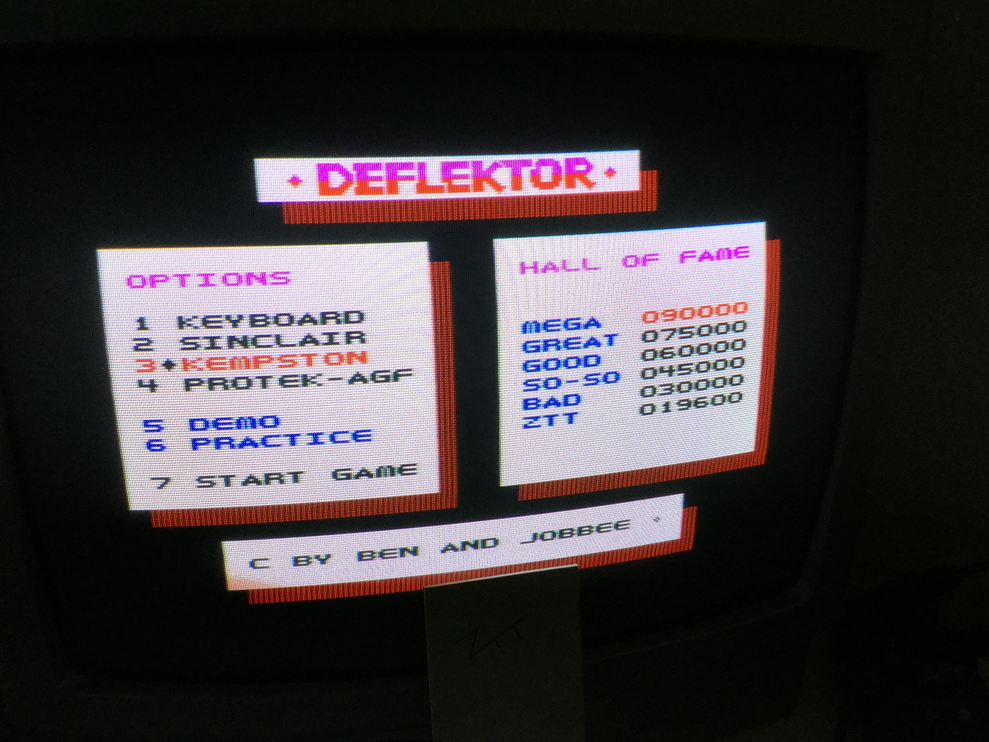 Frankie: Deflektor (ZX Spectrum) 19,600 points on 2019-06-21 12:58:43
