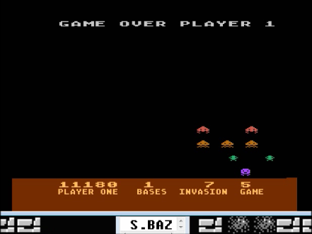 S.BAZ: Deluxe Invaders: Game 5 (Atari 400/800/XL/XE Emulated) 11,180 points on 2016-04-18 12:46:16