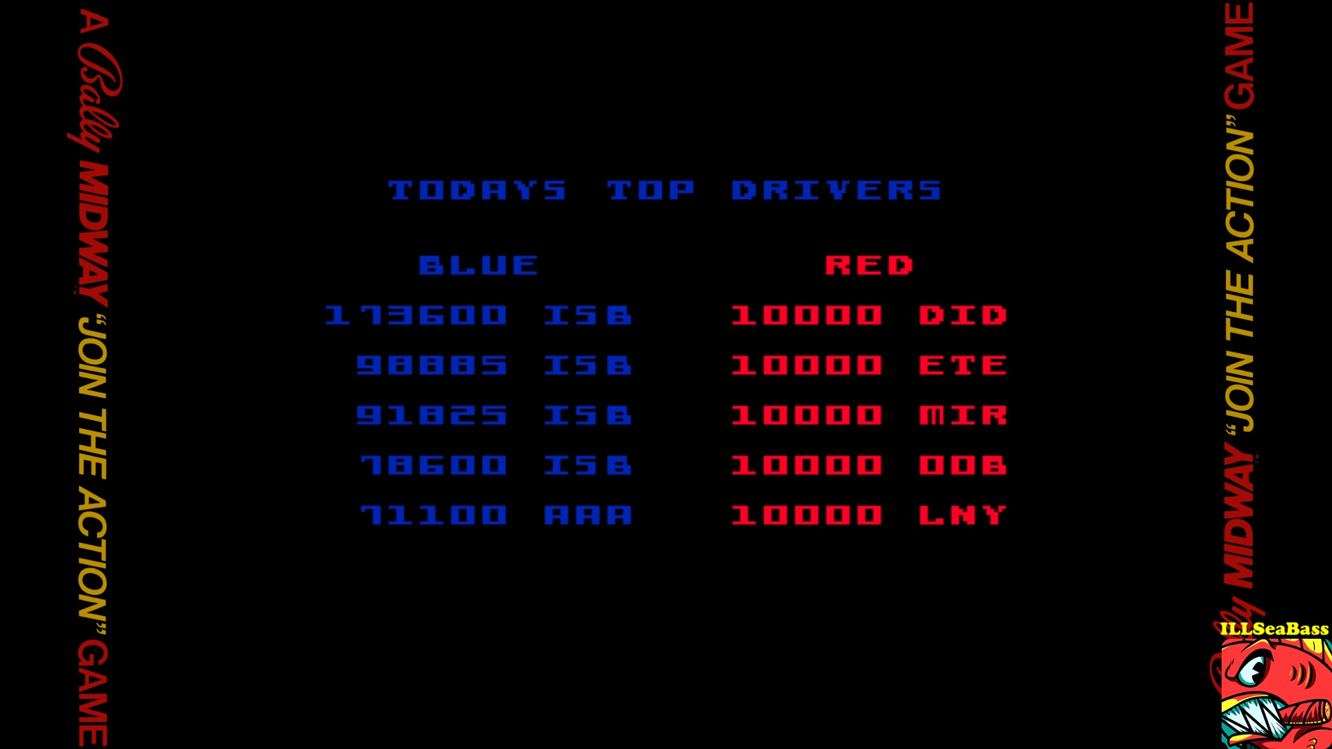 ILLSeaBass: Demolition Derby (Arcade Emulated / M.A.M.E.) 173,600 points on 2017-10-03 22:09:52