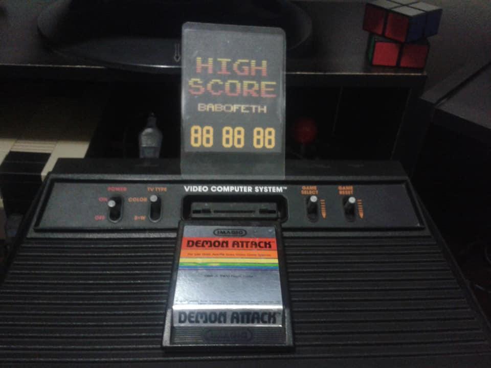 BabofetH: Demon Attack (Atari 2600 Novice/B) 33,930 points on 2020-06-18 21:14:41