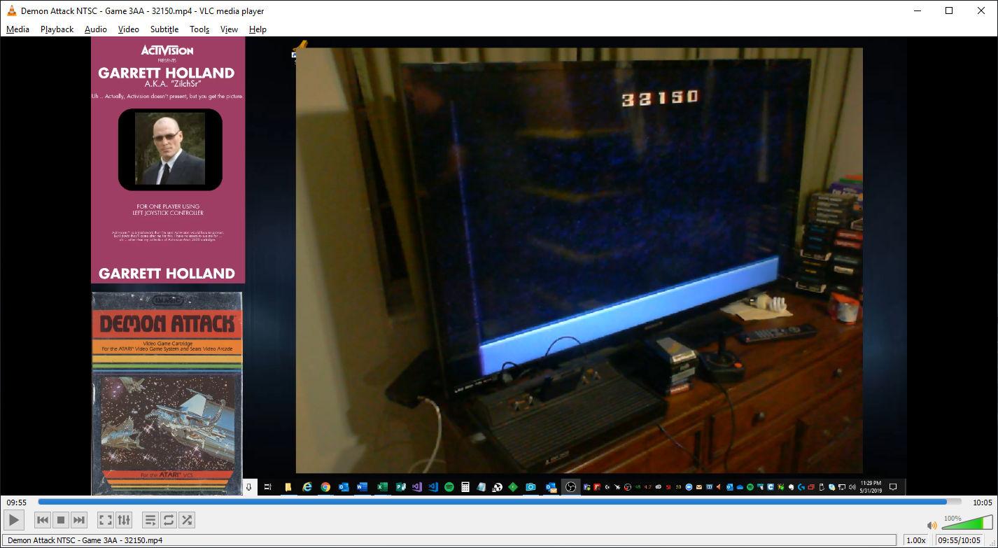 ZilchSr: Demon Attack: Game 3 (Atari 2600 Expert/A) 32,150 points on 2019-05-31 22:35:55