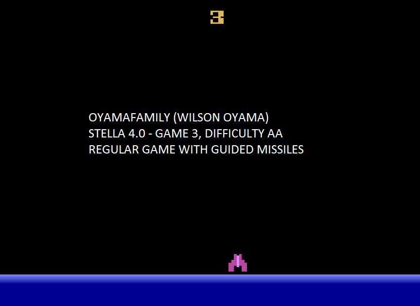 oyamafamily: Demon Attack: Game 3 (Atari 2600 Emulated Expert/A Mode) 25,000 points on 2015-07-19 05:46:12