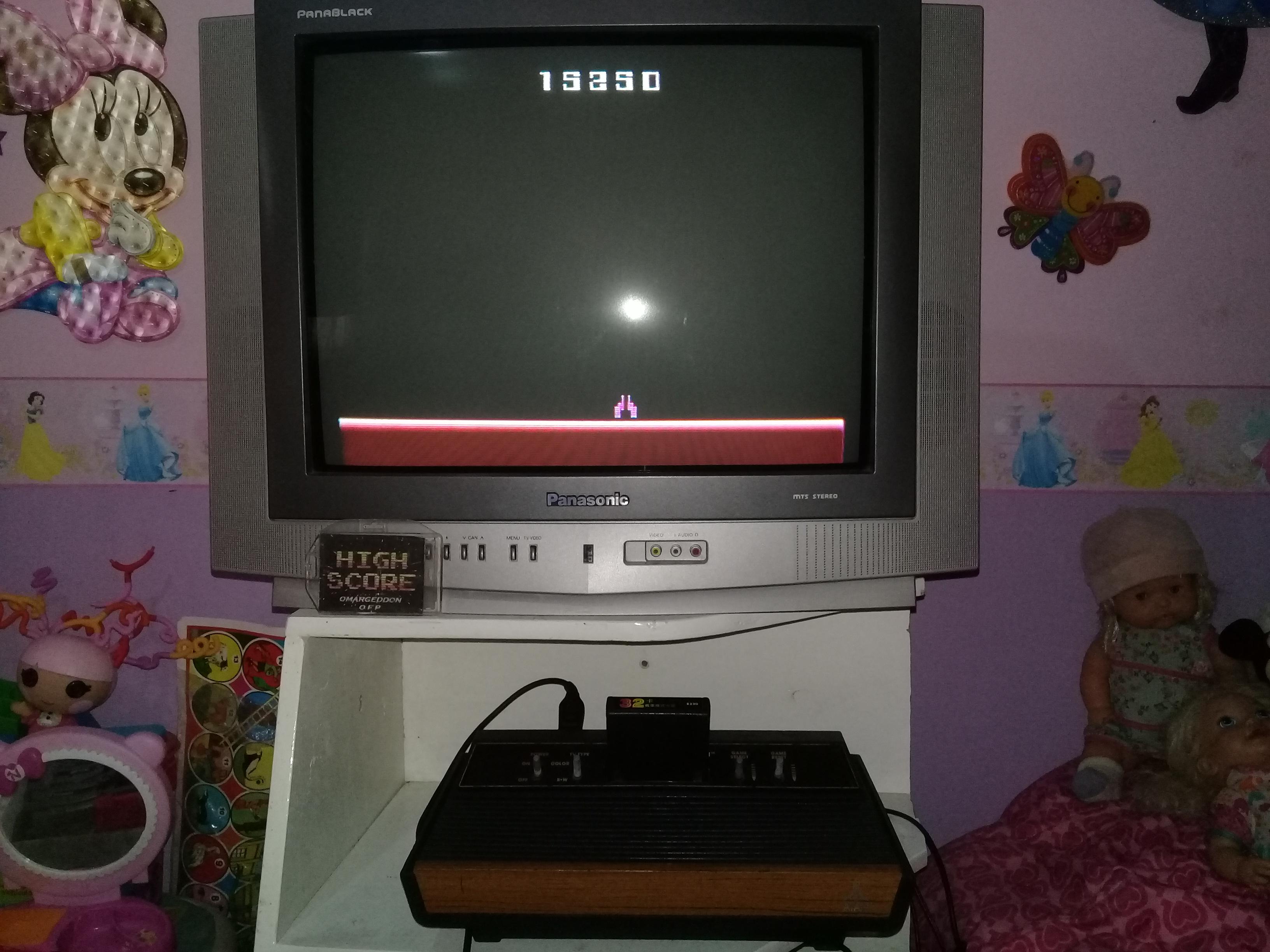 omargeddon: Demon Attack: Game 5 (Atari 2600 Novice/B) 15,250 points on 2019-07-01 11:55:46