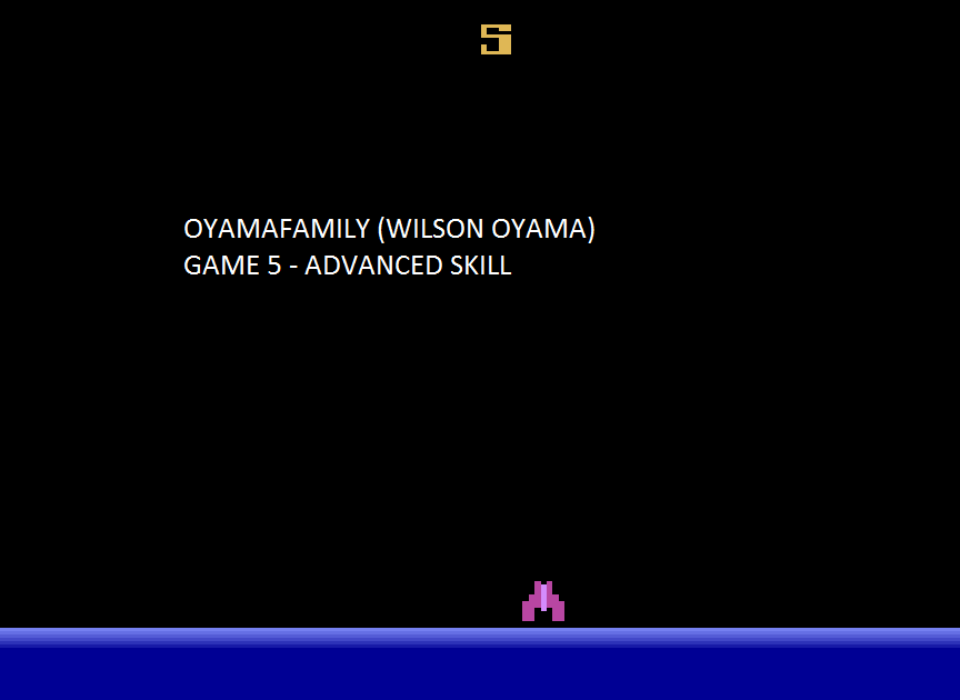 oyamafamily: Demon Attack: Game 5 (Atari 2600 Emulated Expert/A Mode) 16,440 points on 2015-08-09 19:54:05