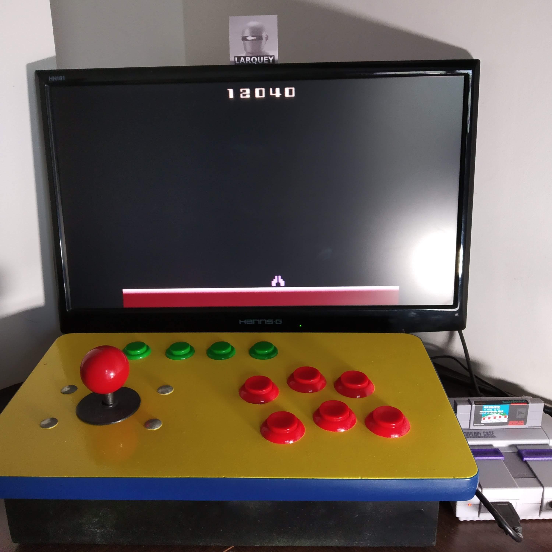 Larquey: Demon Attack: Game 7 (Atari 2600 Emulated Novice/B Mode) 12,040 points on 2020-08-09 03:32:52