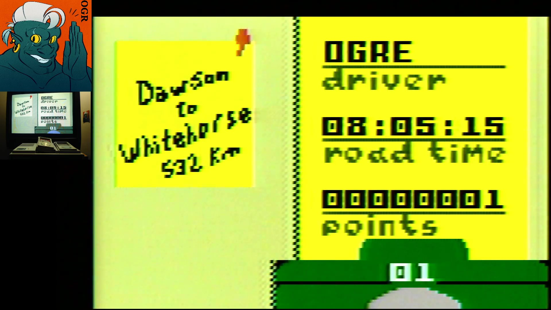 AwesomeOgre: Desert Bus: Arctic Bus (Intellivision) 1 points on 2020-02-18 09:49:35