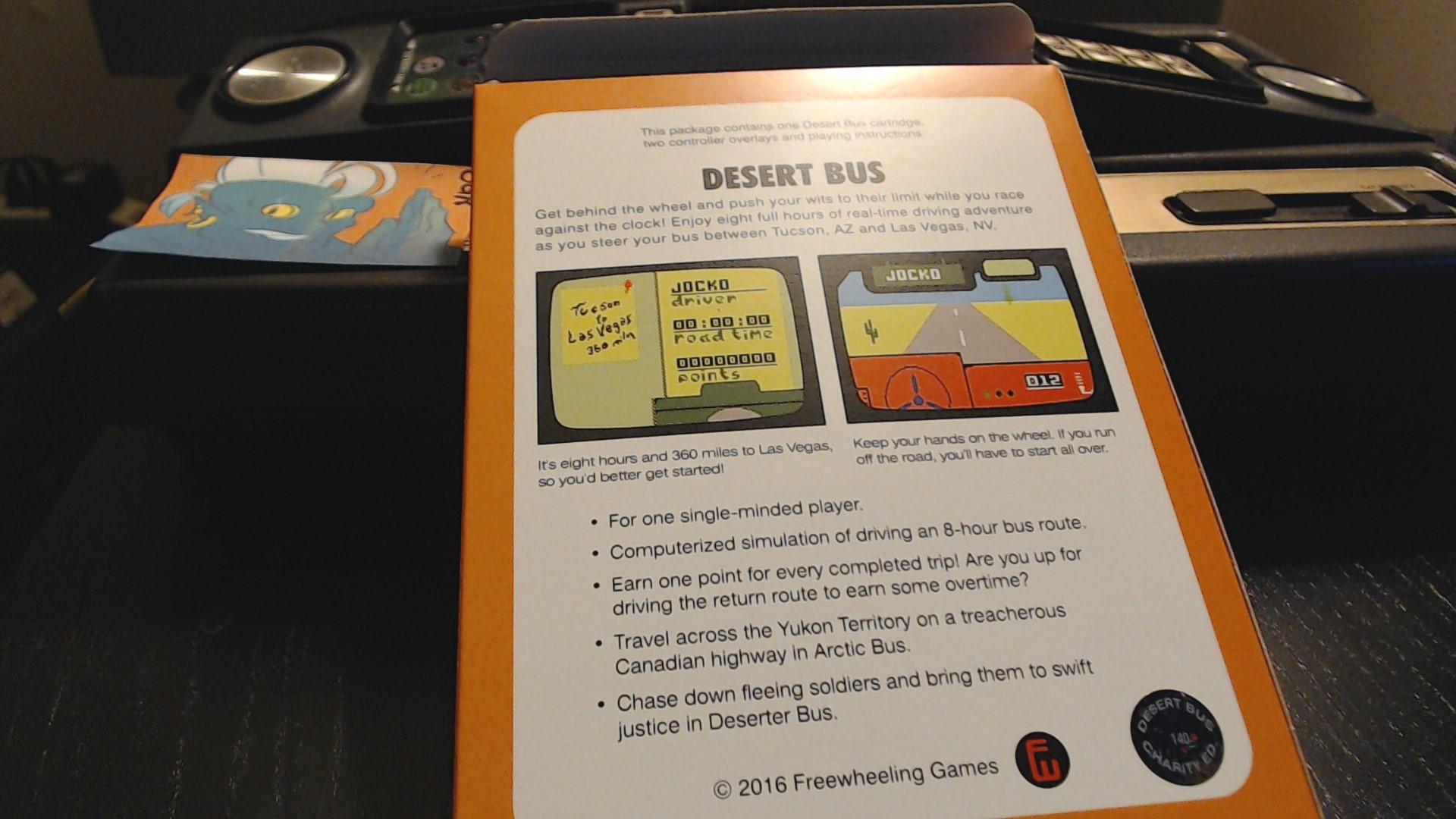 AwesomeOgre: Desert Bus: Deserter Bus (Intellivision) 1,248 points on 2019-10-16 22:52:29