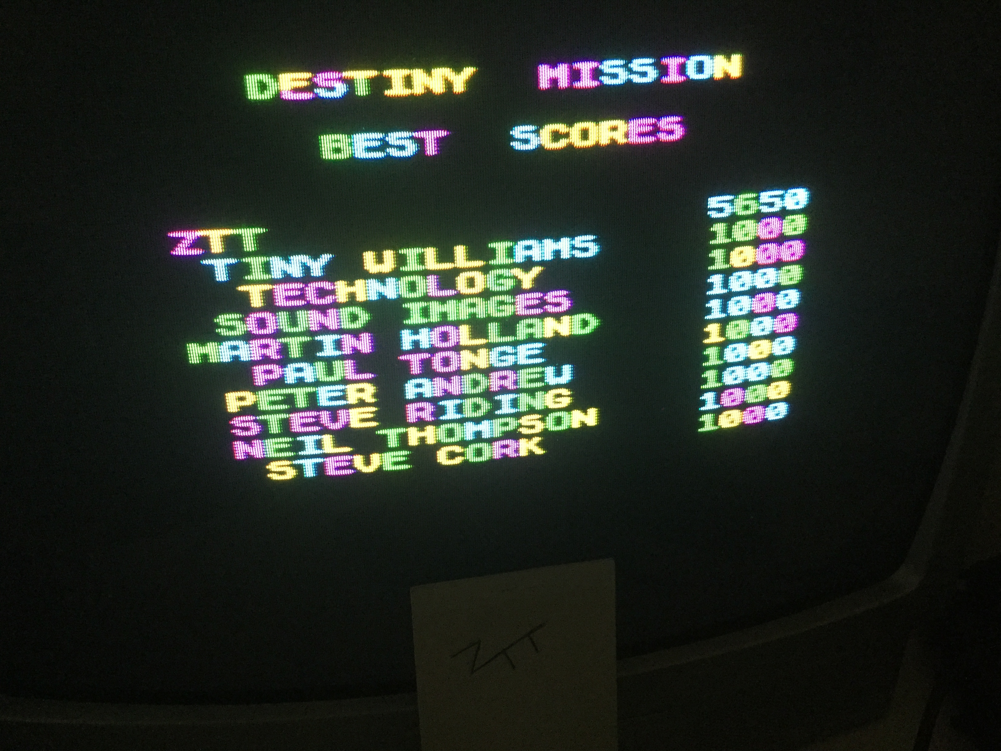 Frankie: Destiny Mission (ZX Spectrum) 5,650 points on 2019-06-03 11:37:52