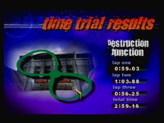 derek: Destruction Derby 64: Time Trial [Destruction Junction / Fastest Lap] (N64) 0:00:56.25 points on 2016-04-19 13:07:30